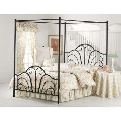 Dover Textured Black Queen Canopy Bed