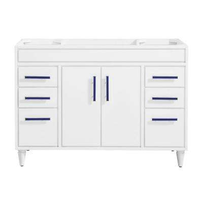 Layla 48 in. W x 21.5 in. D x 34 in. H Bath Vanity Cabinet Only in White