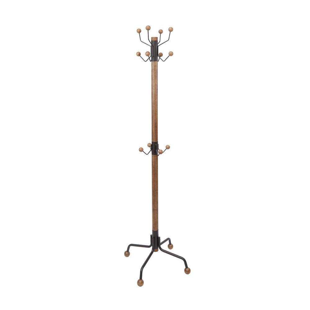Silverwood Greta Modern Brown Coat Rack-CPFC1213-BLK - The Home Depot 88f78cf24