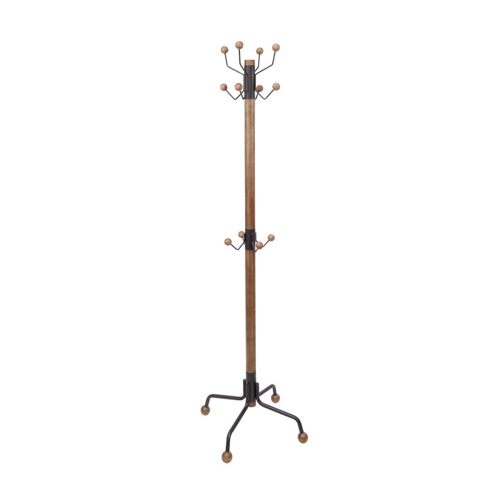 Silverwood Furniture Reimagined ™ Greta Modern Brown Coat Rack CPFC1213-BLK