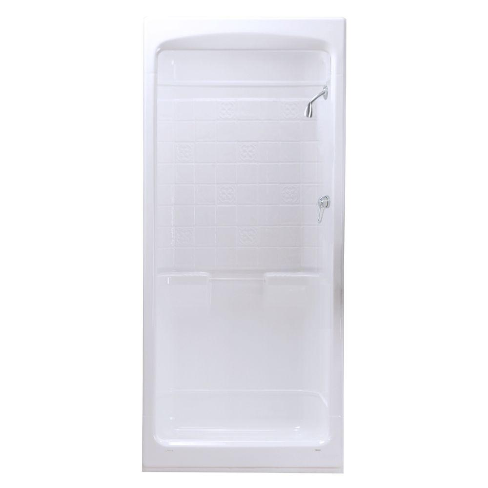 MAAX Montego 33-3/4 in. x 39 in. x 85 in. Shower Stall in White