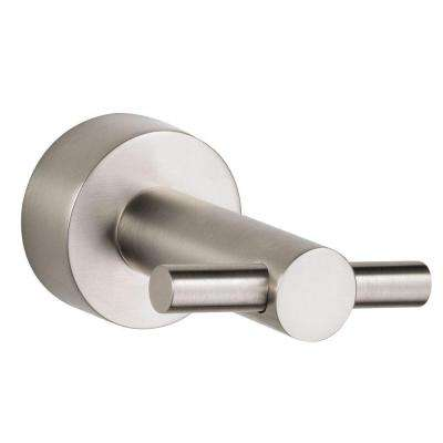 Parma Double Robe Hook in Brushed Nickel