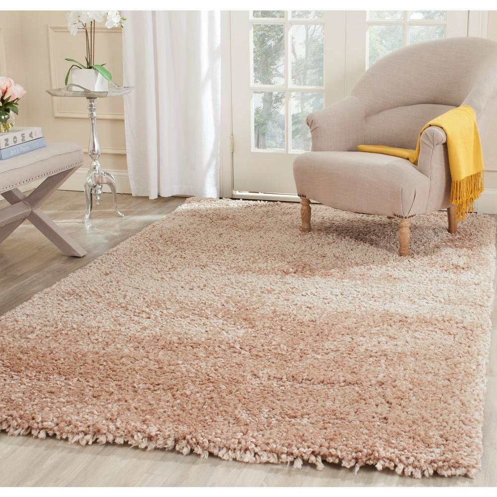 Safavieh Popcorn Shag Beige 6 Ft X 9 Ft Area Rug Sg267b 6 The