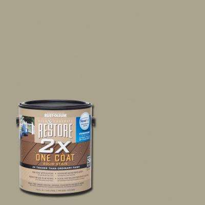 1 gal. 2X Putty Solid Deck Stain with NeverWet
