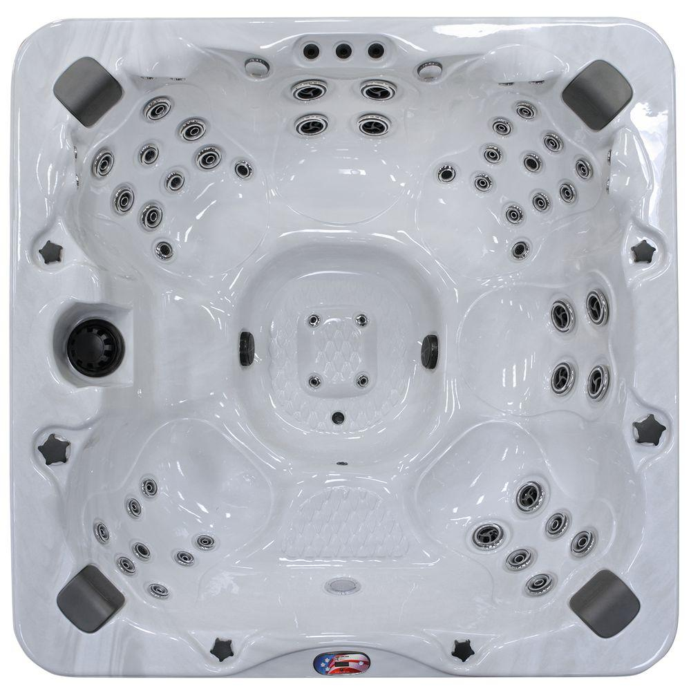 6-Person 56-Jet Bench Spa Hot Tub with Bluetooth Stereo System, Subwoofer