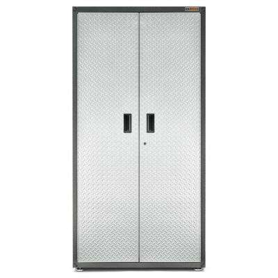 Ready to Assemble 72 in. H x 36 in. W x 24 in. D Steel Freestanding Garage Cabinet in Silver Tread