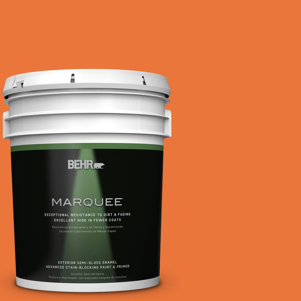 BEHR MARQUEE Home Decorators Collection 5-gal. #HDC-MD-27 Tart Orange Semi-Gloss Enamel Exterior Paint