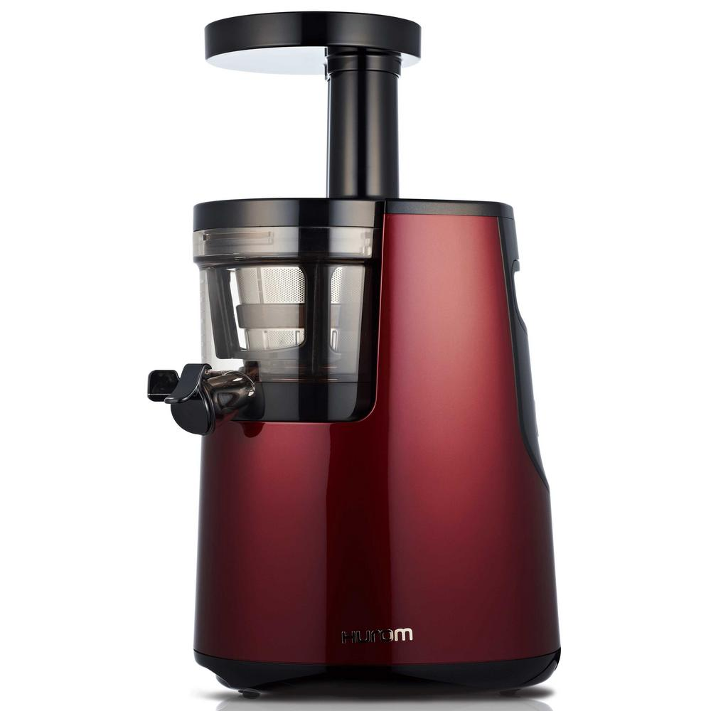 Elite Slow Juicer in Wine (Red) Our best-selling HH Elite slow juicer has been our tried and true juicer for years. An iF, Red Dot, IDEA and Good Design winner, the HH Elite slow juicer is pleasing to the eyes, as well as the taste buds. It is equipped with our Slow Squeezing Technology (SST) which gently, quietly, and efficiently squeezes a vast variety of ingredients into delicious, vibrant juices, and vegan nut milks. Color: Wine.