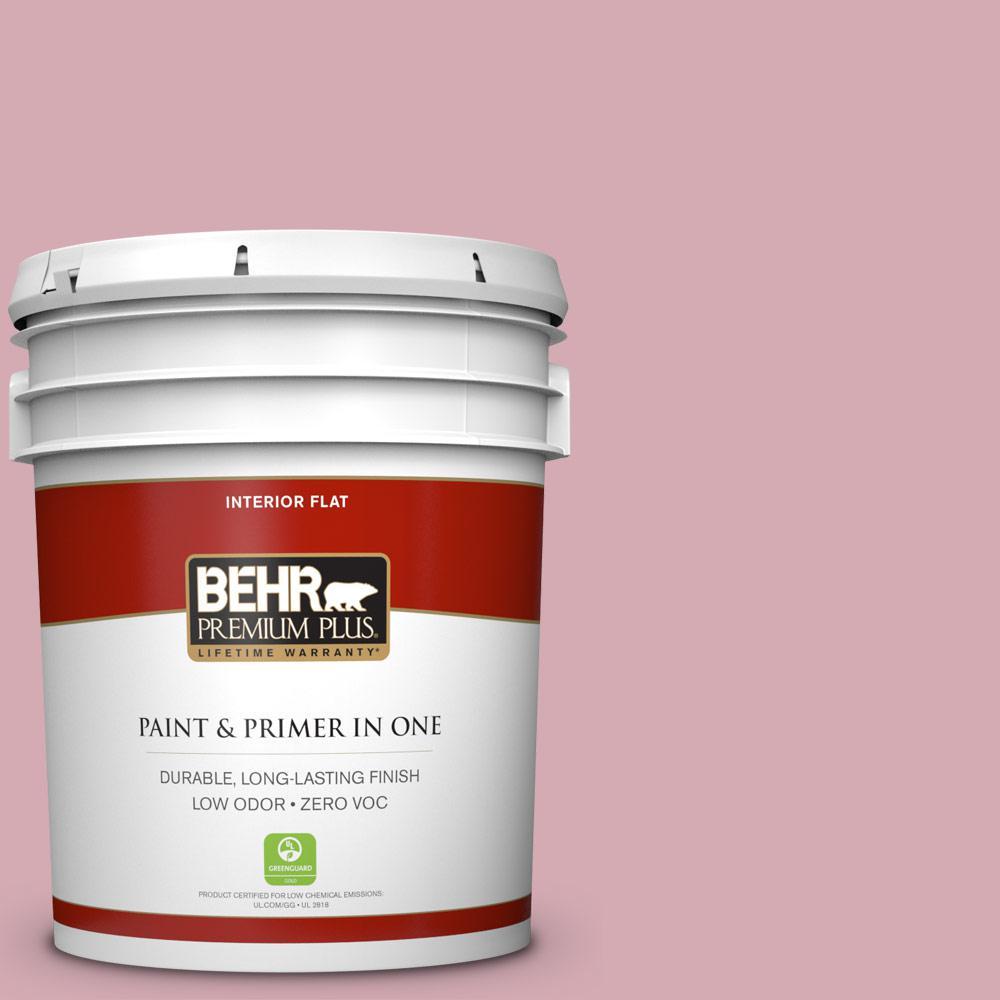 BEHR Premium Plus 5-gal. #S130-3 Ballet Rose Flat Interior Paint