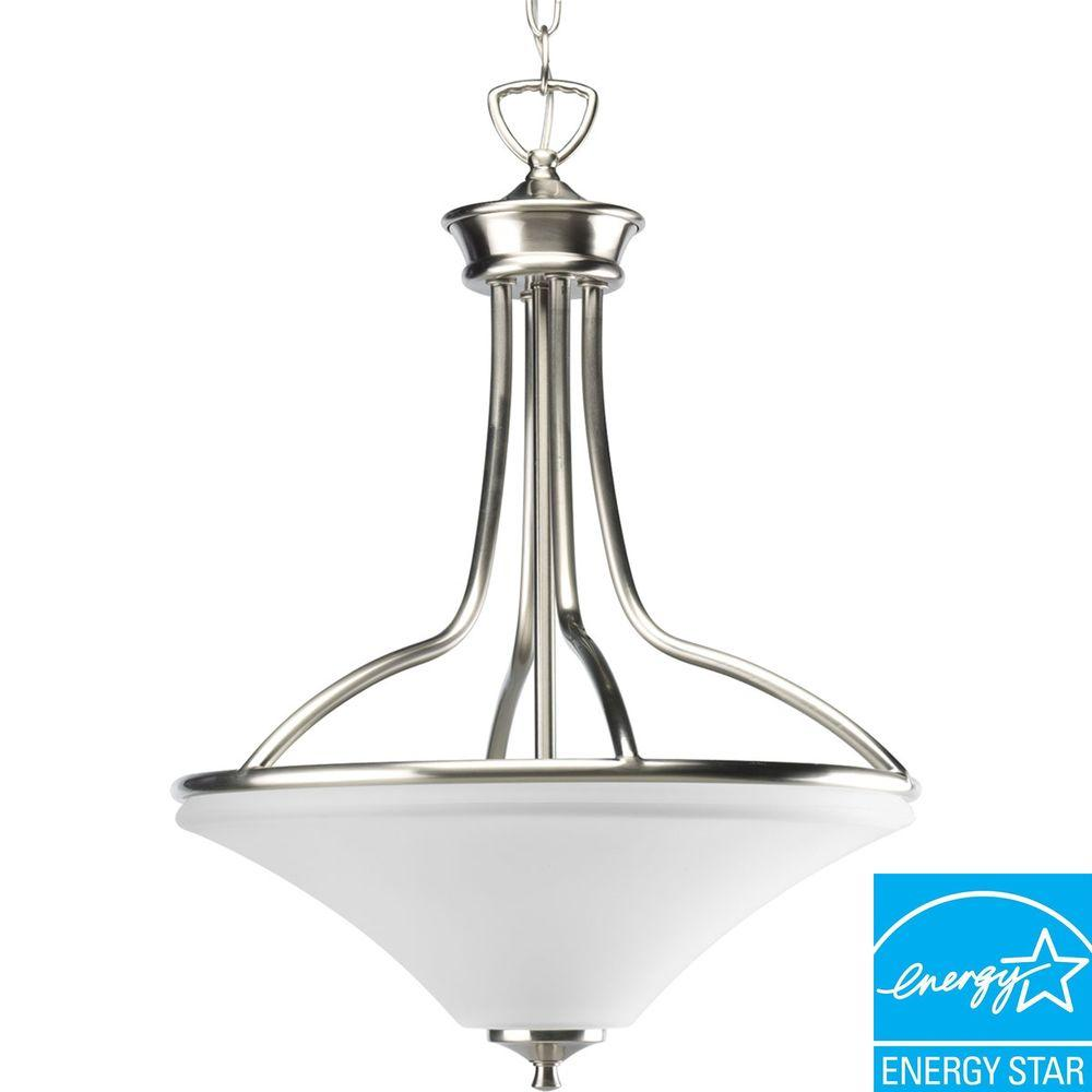 Progress Lighting Janos Collection 3-Light Brushed Nickel Foyer Pendant-DISCONTINUED