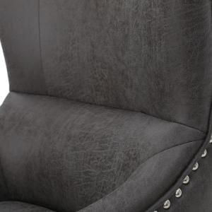 Astounding Noble House Lorenzo Studded Slate Fabric High Back Club Dailytribune Chair Design For Home Dailytribuneorg
