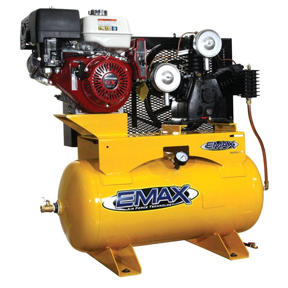 EMAX 30-Gal. 13 HP Gas 2-Stage Truck Mount Air Compressor with Honda Engine-DISCONTINUED