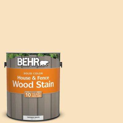 1 gal. #HDC-CT-03 Candlewick Solid Color House and Fence Exterior Wood Stain
