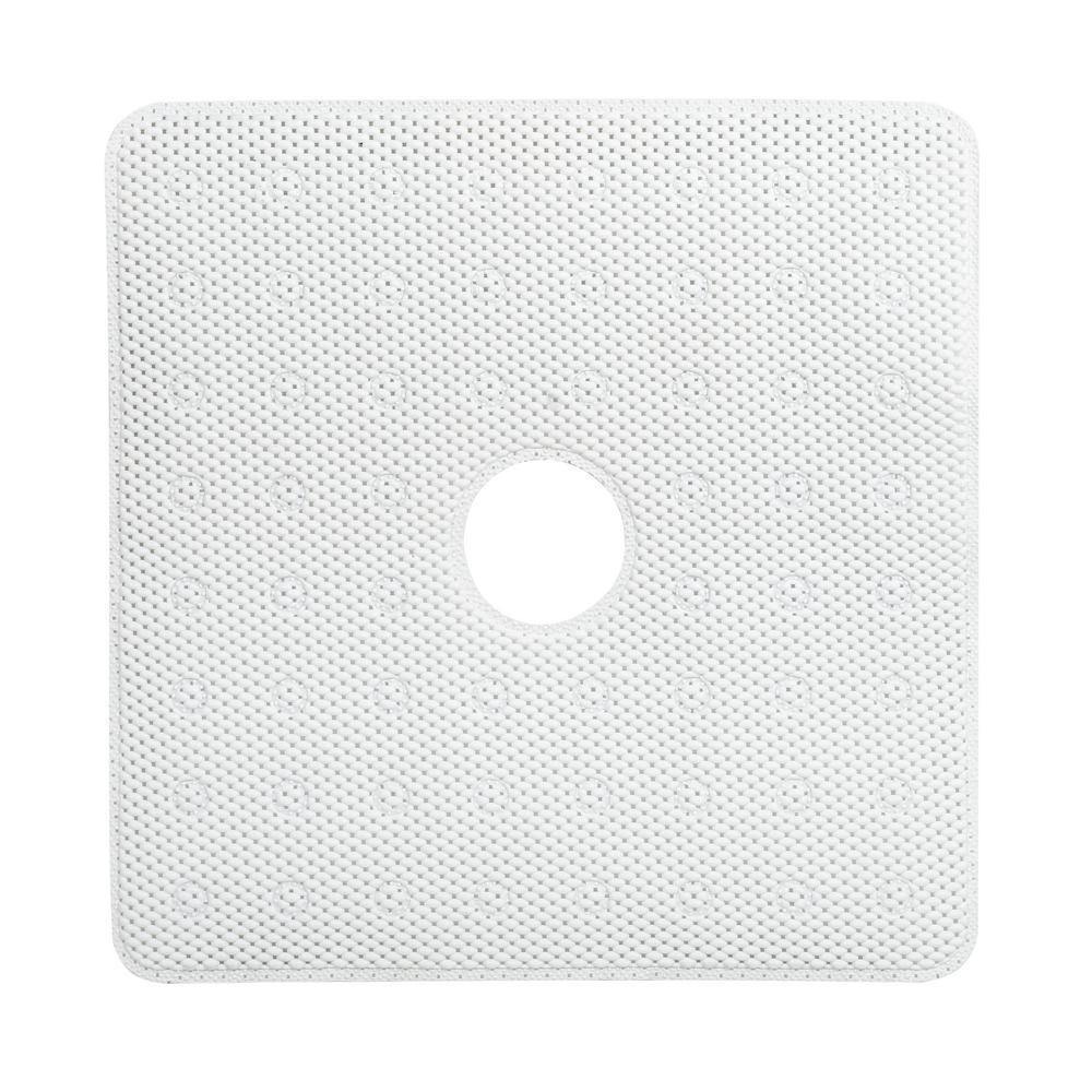 24 in. x 24 in. Shower Stall Foam Bath Mat in White