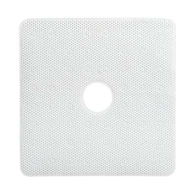 24 in. x 24 in. Shower Stall Foam Bath Mat in White