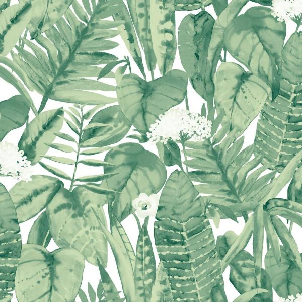 Tropical Jungle Green Vinyl Peelable Roll (Covers 28 sq. ft.)