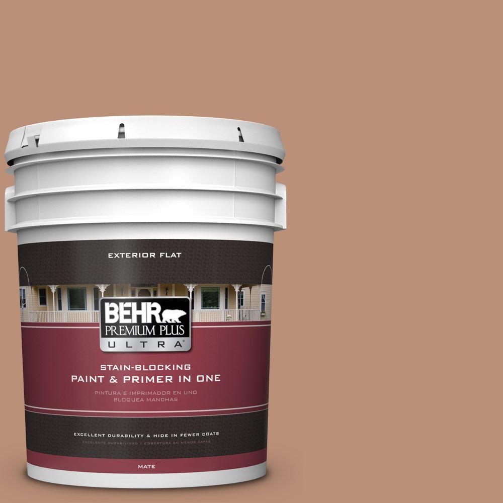 BEHR Premium Plus Ultra 5-gal. #BXC-46 Mojave Dusk Flat Exterior Paint