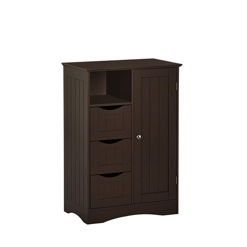 Ashland 22 in. W x 32 in. H 1-Door, 3-Drawer Floor Cabinet in Espresso