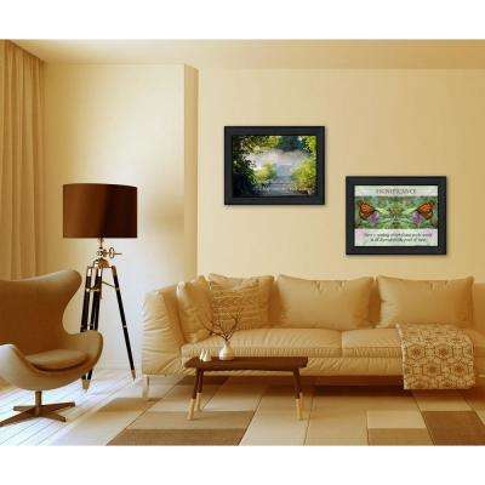 "14 in. x 20 in. ''Beauty"" by Trendy Decor 4U Printed Framed Wall Art"