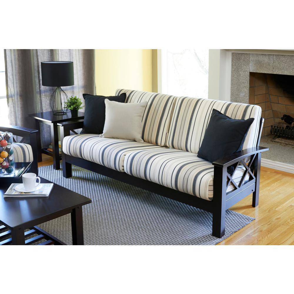 internet 303577031 handy living virginia x design sofa with exposed wood frame - Exposed Wood Frame Sofa
