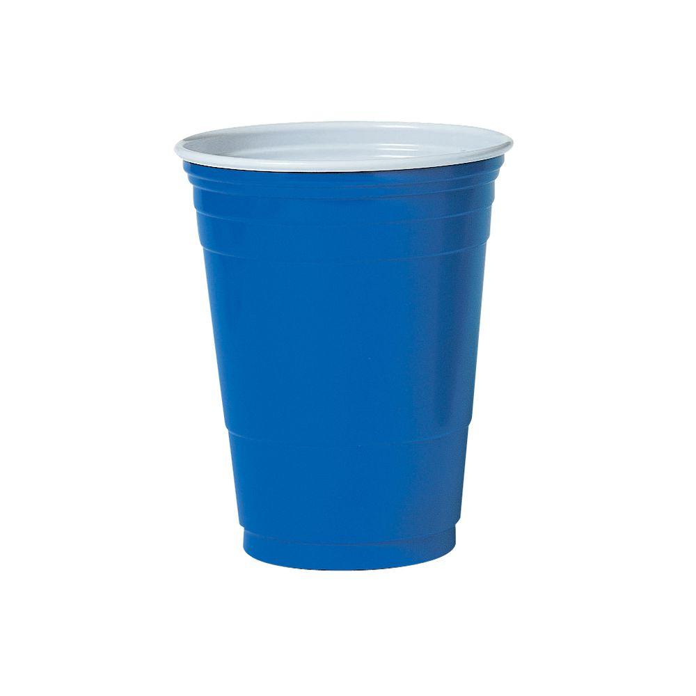 SOLO Plastic Party Cold Drink Cups 16 oz. Blue 1000 Per Case  sc 1 st  Home Depot & SOLO Plastic Party Cold Drink Cups 16 oz. Blue 1000 Per Case ...