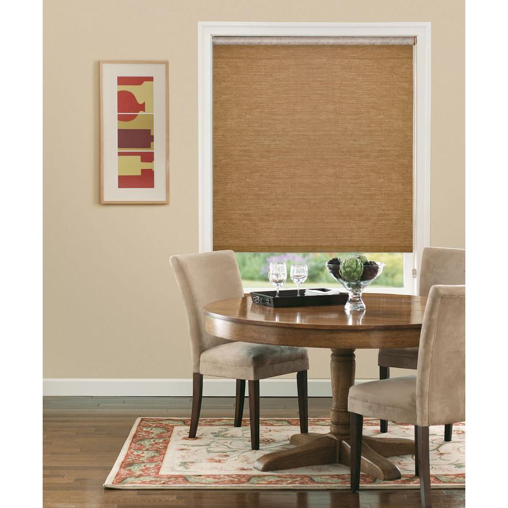 Bali Cut-to-Size Bermuda Natural Light Filtering Roller Shade - 15.5 in. W x 72 in. L