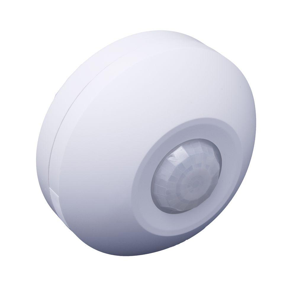 Ceiling Mount Self-Contained Occupancy Motion Sensor, White