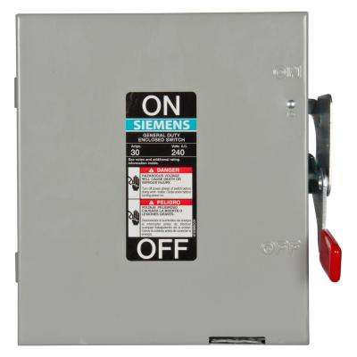General Duty 30 Amp 3-Pole Non-Fusible Indoor Safety Switch