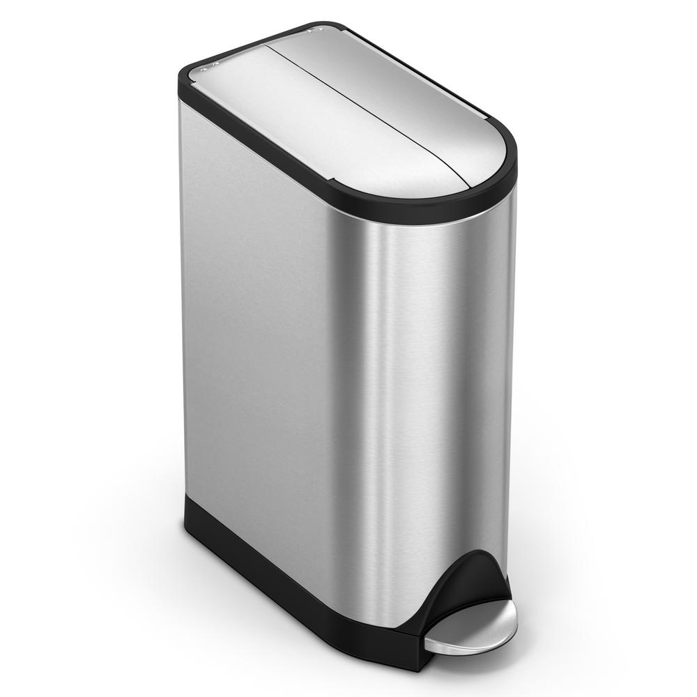 Simplehuman 475 Gal Butterfly Step Trash Can In Brushed Stainless