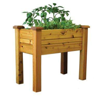 18 in. x 34 in. x 32 in. Safe Finish Elevated Garden Bed