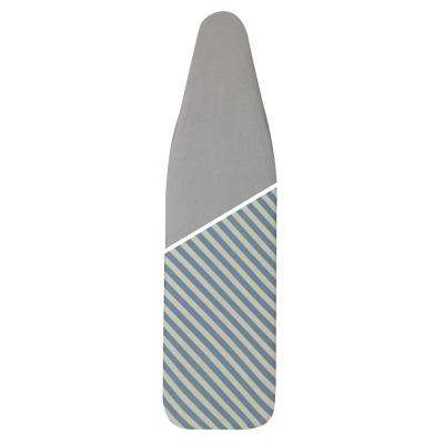 Ultra Plus Series 4-Leg Ironing Board 100% Cotton Reversable Mica Sparkle Stripe or Silver Cover