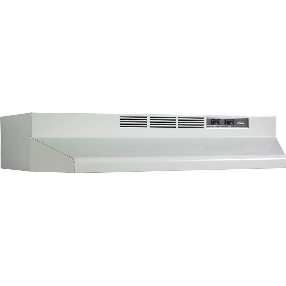 Broan F40000 Series 42 In Convertible Under Cabinet Range Hood With Light White