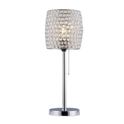 Cleopatra 8 in. 1-Light Clear Indoor Table Lamp with Light Kit