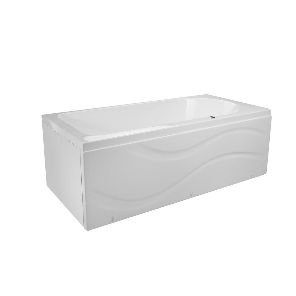 Solo 60 in. x 32 in. Acrylic Left Drain Rectangular Alcove Infusion Microbubble Air Bath Bathtub in White