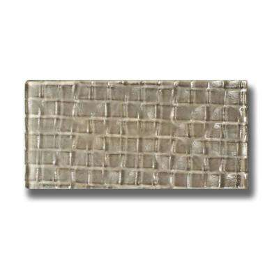 Metro Cubes Olive Brown Subway 3 in. x 6 in. Glass Wall Tile (1 sq. ft. / pack)