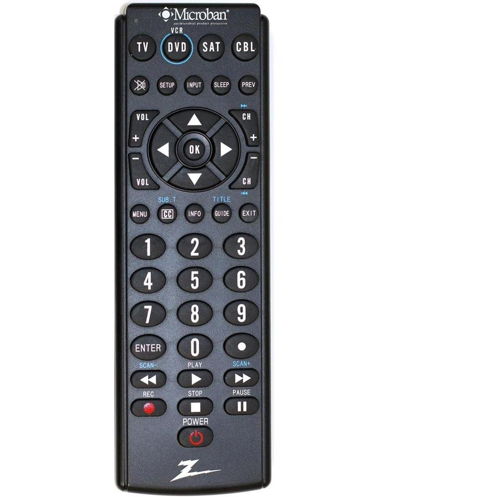 Zenith 4-Device Big Button Remote Control - Microban