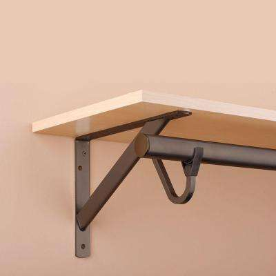 11-1/4 in. Heavy-Duty Bronze Shelf and Rod Bracket