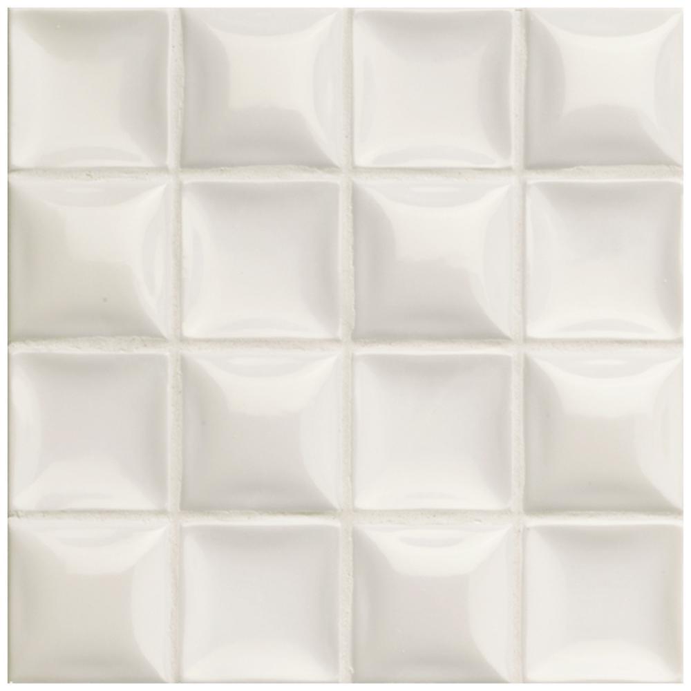 Merola Tile Duna Nacar Cream Pearl 7-7/8 in. x 7-7/8 in. Ceramic Wall Tile
