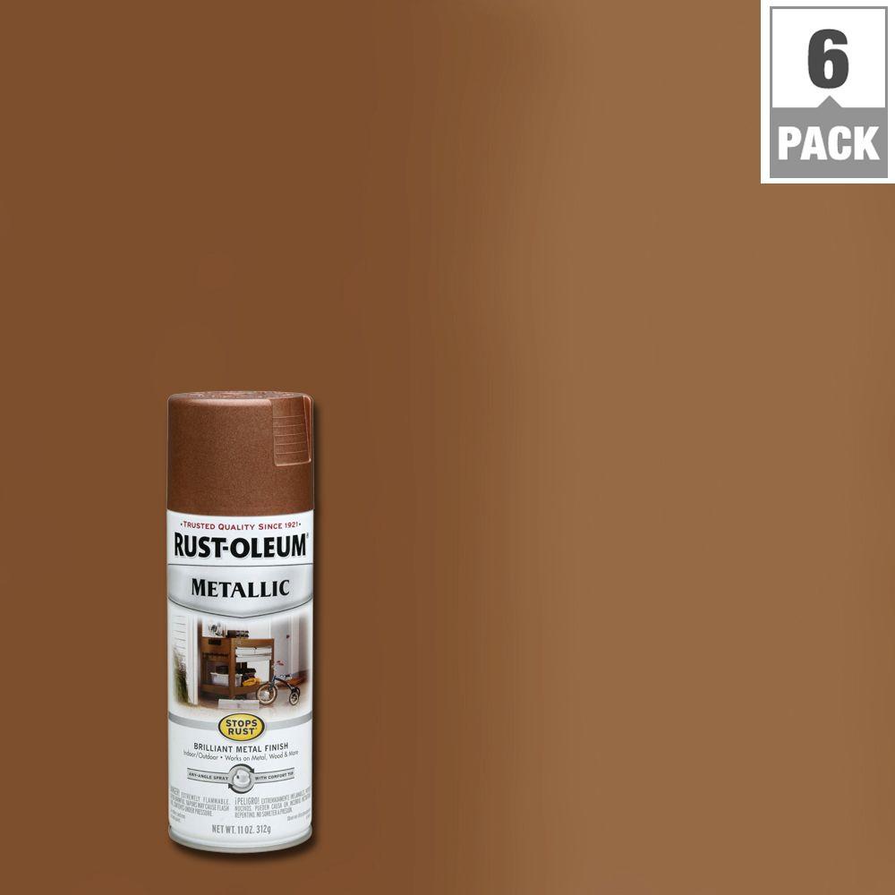 11 oz. Vintage Metallic Copper Protective Spray Paint (6-Pack)