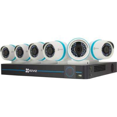 Smart Home 4MP 8-Channel NVR 2TB Hard Drive Security Camera Surveillance System with IP PoE Cameras and Night Vision