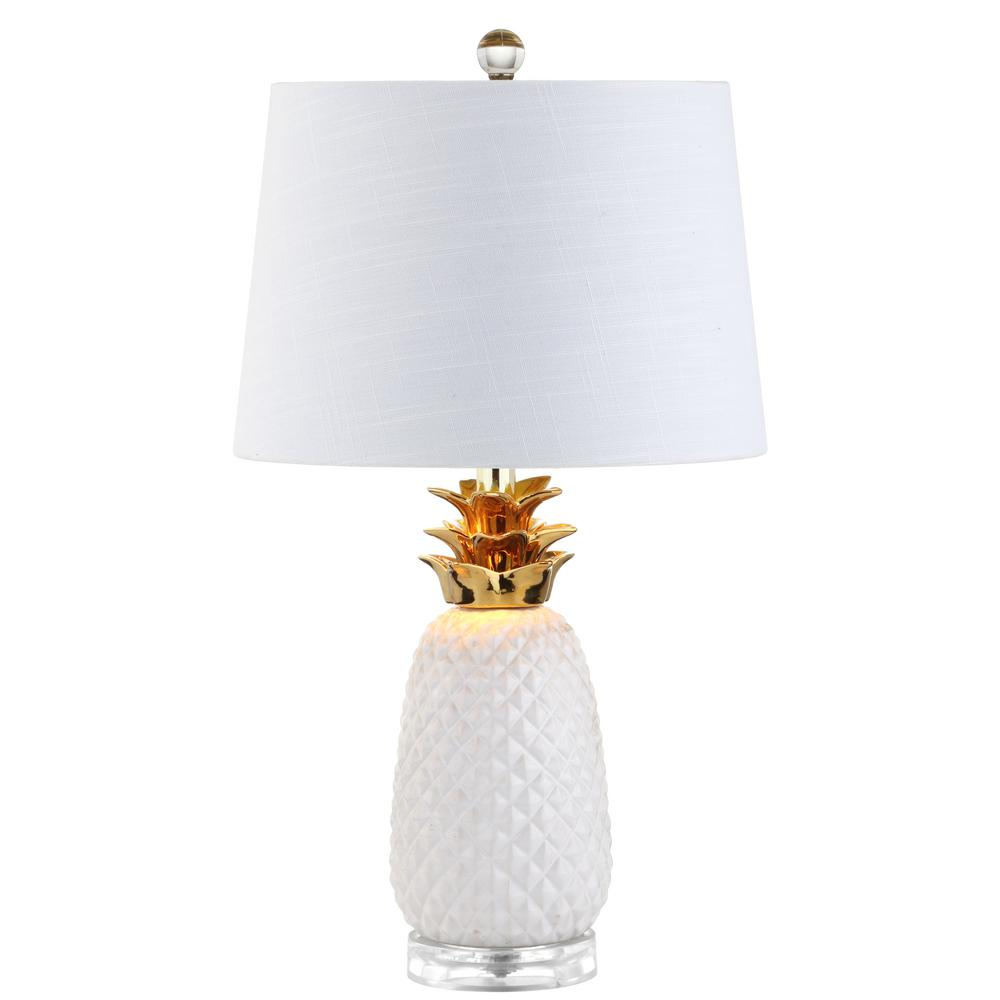 White/Gold Ceramic Table Lamp
