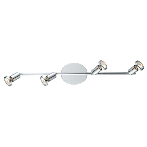 Buzz 2 2.1 ft. 4-Light Chrome Track Lighting Kit
