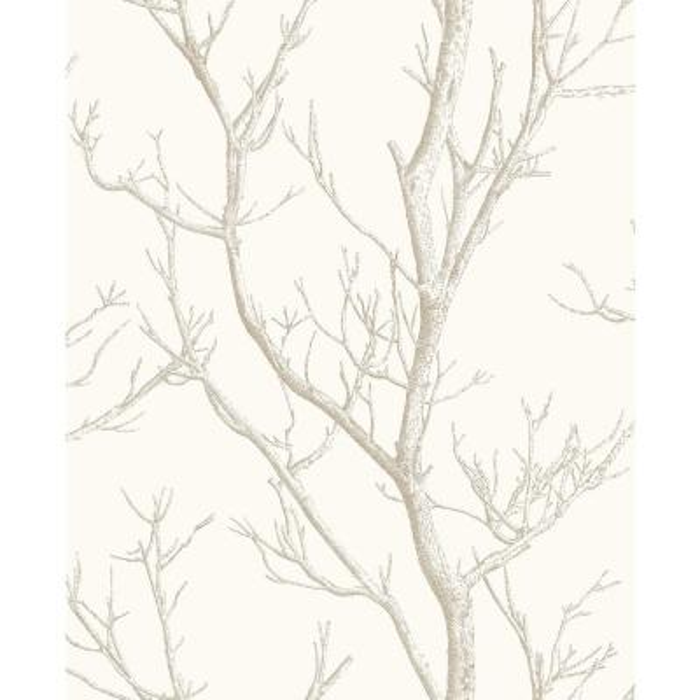 8 in. x 10 in. Laelia White Silhouette Tree Wallpaper Sample