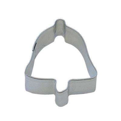 12-Piece Mini Bell Tinplated Steel Cookie Cutter & Cookie Recipe