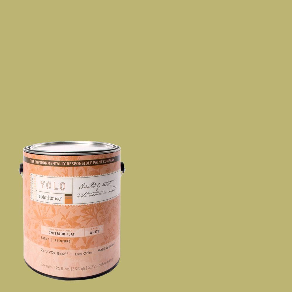 YOLO Colorhouse 1-gal. Leaf .04 Flat Interior Paint-DISCONTINUED