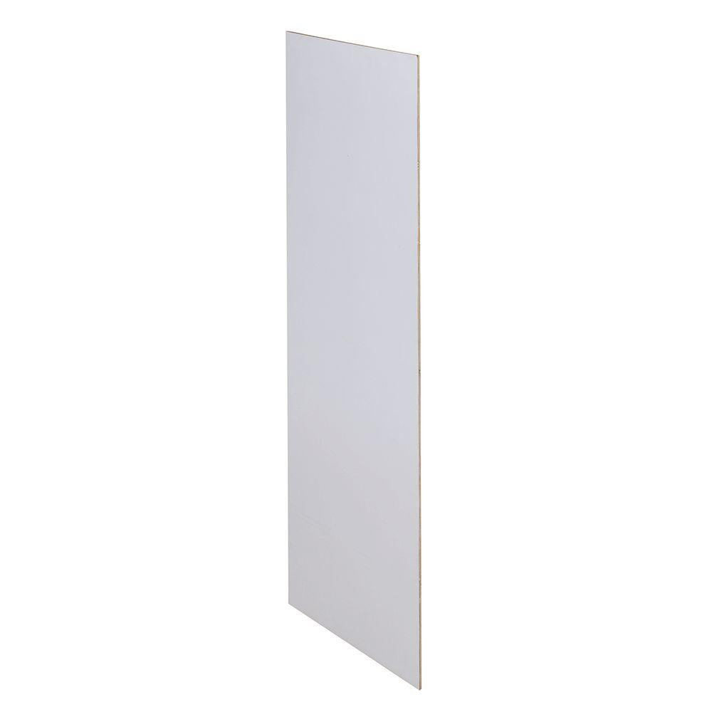 Home Decorators Collection Newport Pacific White Assembled 23.25x12x0.1875 in. Wall Kitchen Skin End Panel