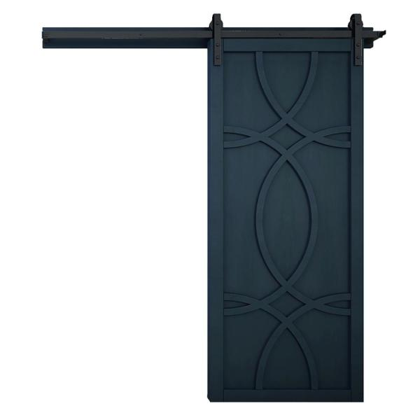 42 in. x 84 in. Hollywood Admiral Wood Sliding Barn Door with Hardware Kit