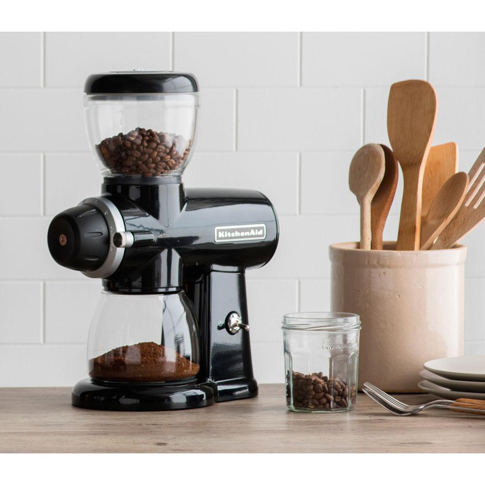 KitchenAid-7 oz. Onyx Black Burr Coffee Grinder with Adjustable Settings