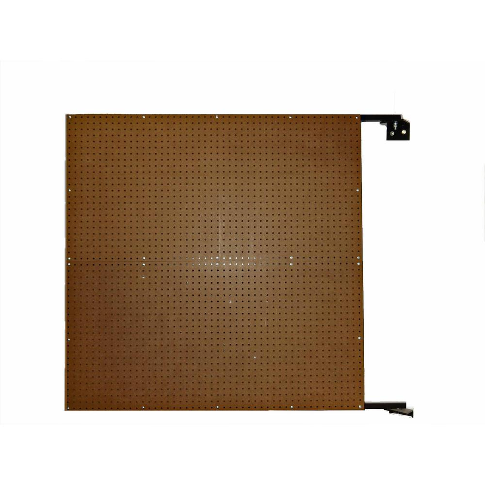 Triton Products XtraWall 48 in. W x 48 in. H x 1-1/2 in. D Wall Mount Double-Sided Swing Panel Pegboard