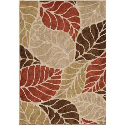 Leaf Levels Beige Soft 7 ft. 10 in. x 10 ft. 10 in. Indoor Area Rug